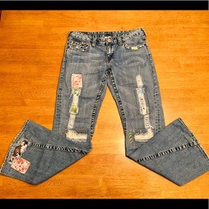 True Religion Woodstock Flare Leg Denim Jeans